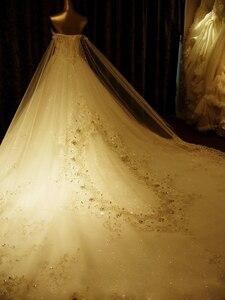 Image 4 - مخصص الكرة بثوب الحبيب الرباط كريستال مطرز الماس الرسمي فساتين الزفاف الفاخرة زي العرائس الحقيقي الصور XJ05