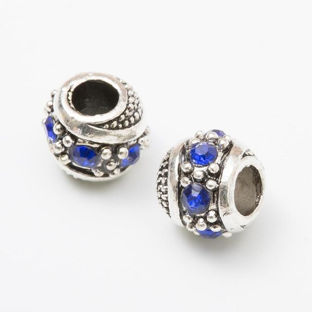 10Pcs/Lot  Silver Plated Charms Beads European DIY Beads Fit Pandora Charms Bracelets & Bangle Fashion Jewelry js1014
