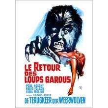 Le Retour de Walpurgis (Le Retour Des Loups Garous) -affiche plastifiée