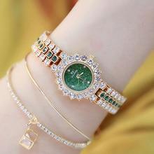 Gem Diamond Women Watches Bracelet Rose Gold Watch Luxury Br