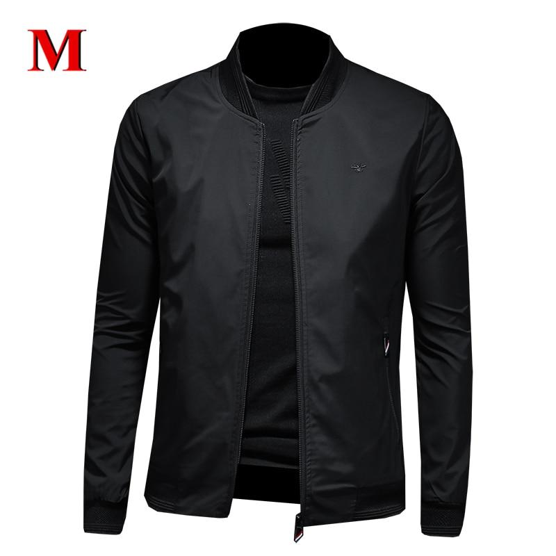 MENNE 2020 New Men Jacket Solid Color Baseball Jacket Men Zipper Coat