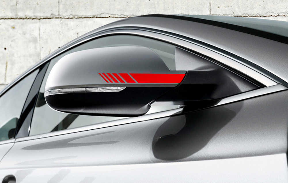 2 Pcs Mobil Styling Belakang Cermin Stiker untuk Nissan Teana J32 IX25 Camry 50 Outlander XL BMW E46 Suzuki grand Vitara