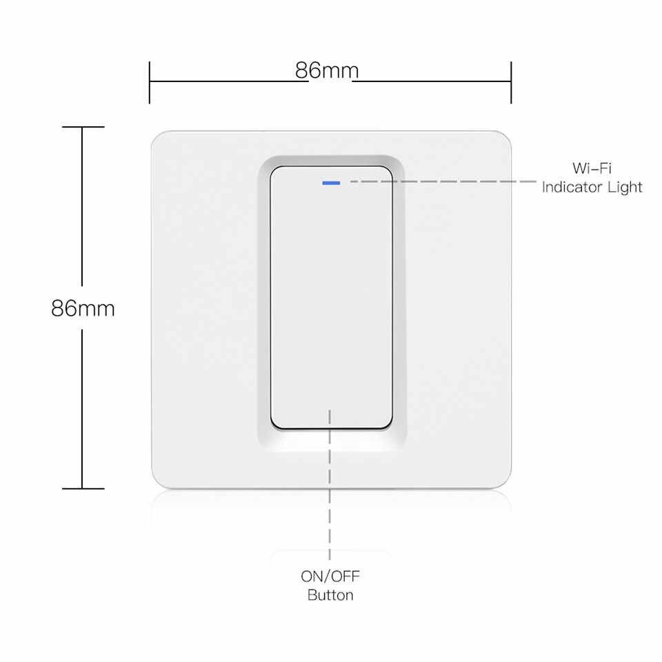 Wi-Fi Умный выключатель света кнопочный умный режим/приложение Tuya дистанционное управление работает с Alexa Google Home для голосового управления