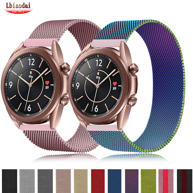 20mm 22mm strap For Samsung Galaxy watch 3 45mm/Active 2/ Gear S3 Frontier Milanese bracelet Huawei GT/2/2e/Pro 46mm/42mm band