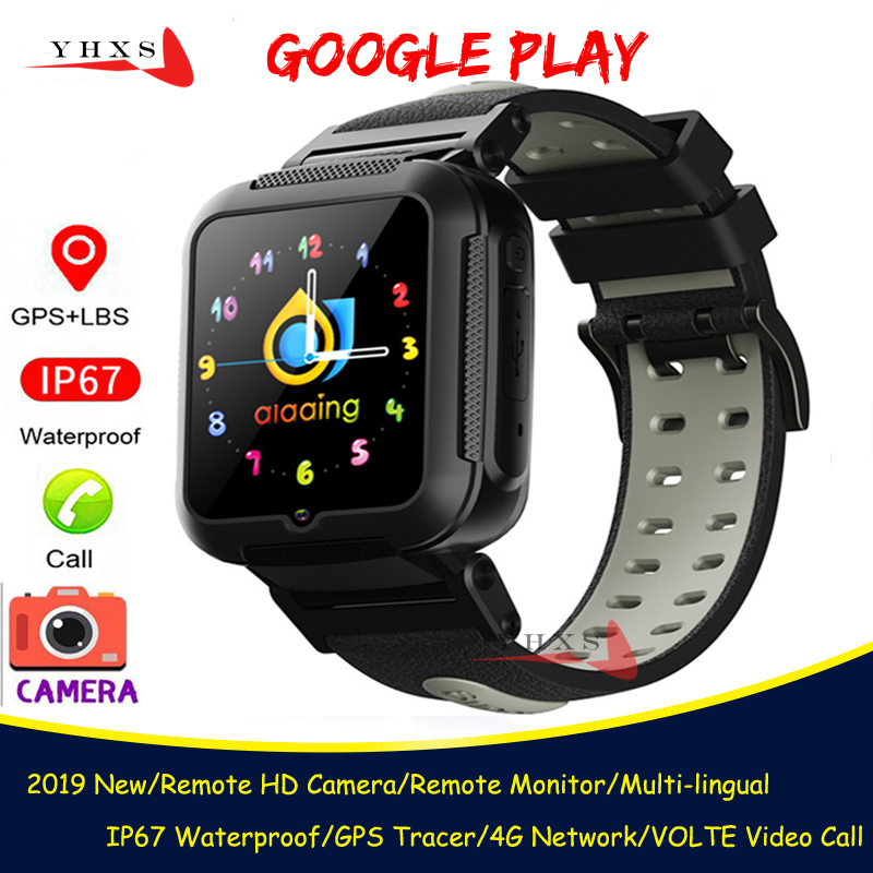 Permalink to Android 9.0 Smart 4G GPS Kids Students Bluetooth Music Camera Wristwatch Call Monitor Tracker Location Google Play Phone Watch