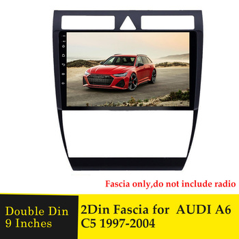 9 Inches Car Facsia For Audi A6 C5 1997-2004 Stereo Dashboard Radio Multimedia DVD Player GPS Navigation Bezel Frame Panel Trim image