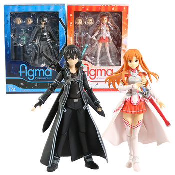 Sword Art Online Kirito Kazuto Figma 174 Asuna Figma 178 PVC Action Figure Collectible Model Toy 1