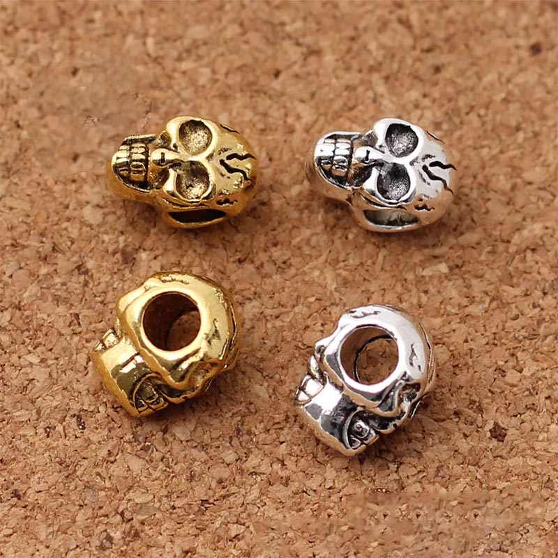 Big Hole Accessories Tibetan silver Loose Spacer Beads 10 Pcs Jewelry  Metal