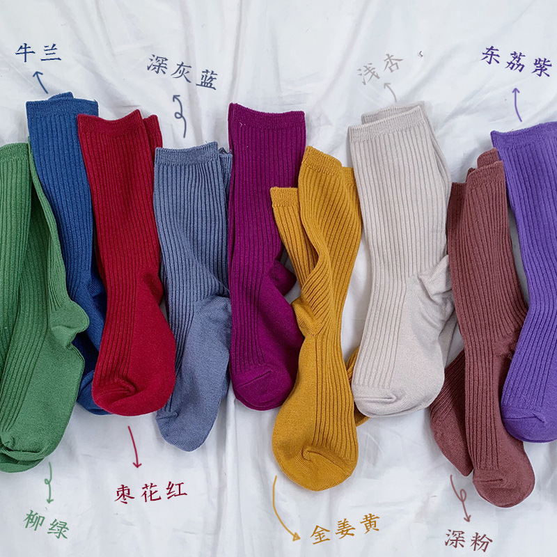 SP&CITY Korean Mercerizing Solid Socks Women Colorful Ankle Socks Concise Knitted Cotton Ladies Socks Harajuku Meias Autumn Sox