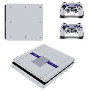 Image 5 - สีขาวสีเต็มรูปแบบPS4 Slimสติ๊กเกอร์Play Station 4สติกเกอร์ผิวสำหรับPlayStation 4 PS4 Slimคอนโซลและคอนโทรลเลอร์สกิน