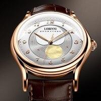 LOBINNI Men Watches Top Luxury Brand Japan MIYOTA Automatic Mechanical Clock Sapphire 50M Waterproof Moon Phase Wristwatch L1810