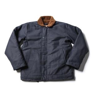 Image 4 - Vintage Bronson USN N 1 데크 자켓 WW2 군복 오토바이 남성 코트 3 색