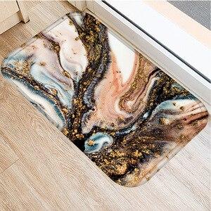 Image 3 - 1 Pcs Marble Doormat Kitchen Carpet Anti Slip Nordic Style Colorful Marble Map Velvet Bottom Door Floor Room Dustproof Mats