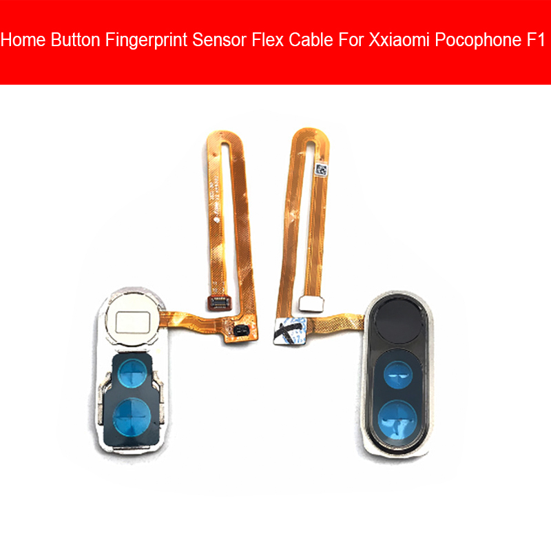 Home Button Flex Cable For Xiaomi Pocophone Poco F1 Menu Key Fingerprint Recognition Sensor Flex Ribbon Cable Replacement Parts