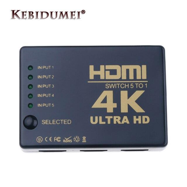 Mini interruptor HDMI 4K HD1080P 3 5 puertos HDMI Selector divisor con Hub IR mando a distancia para HDTV DVD TV BOX Z2