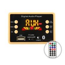 Carro sem fio bluetooth 5.0 mp3 decodificador placa módulo 5v 12v usb mp3 player de áudio wma wav tf slot para cartão/usb/fm placa de decodificação de rádio