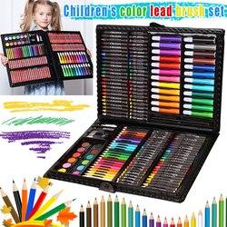 1 Набор, рисование, художественная коробка, набор, цветные карандаши, портативные для детей, начинающих, FKU66