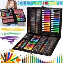 1 Set Drawing Painting Art Box Set Colored Pencils Portable for Children Kids Beginner FKU66