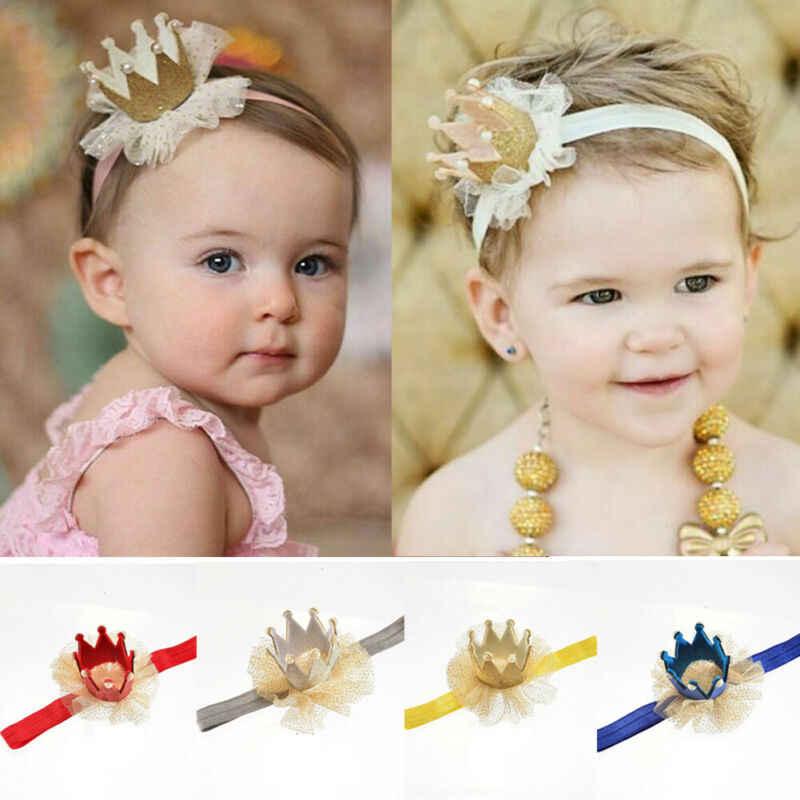 Cute Crown Headband Baby Girl Princess Hair Band for Newborn Infant Toddler Kids
