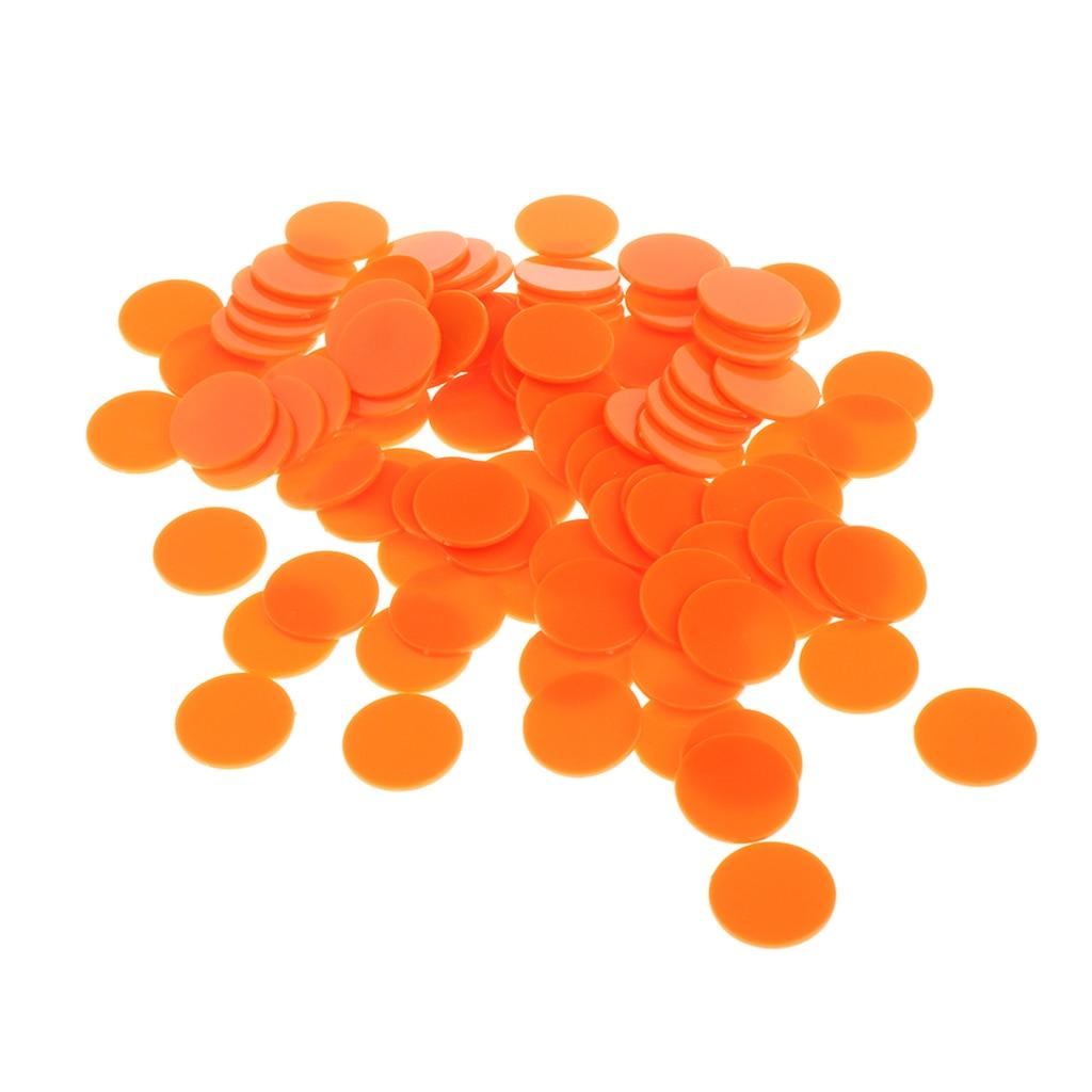 300x 19mm Plastic Poker Game Counter Bingo Casino Chips Kids Play Toys Gift