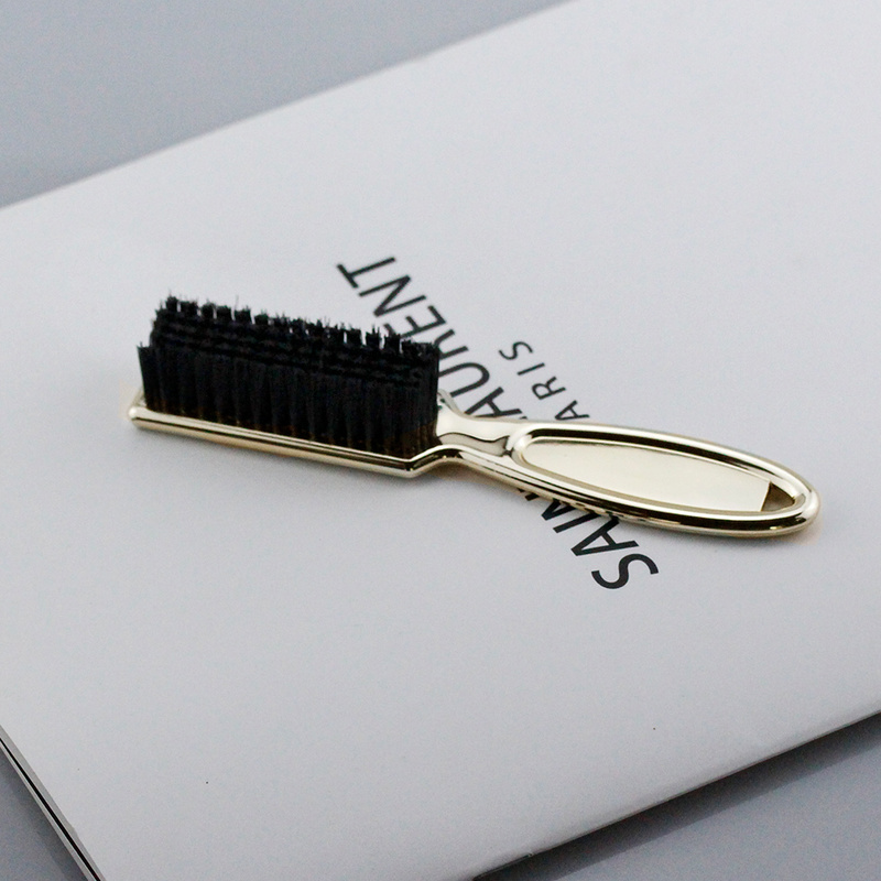 1PC Hairdresser Beard Shaving Comb Soft Dusting Clean Retro Oil Hair Barber Plating Brush Neck Broken Hair Sweep