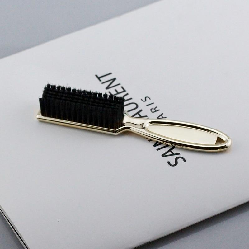 1PC Hairdresser Beard Shaving Comb Soft Dusting Clean Retro Oil Hair Barber Plating Brush Neck Broken Hair Sweep(China)