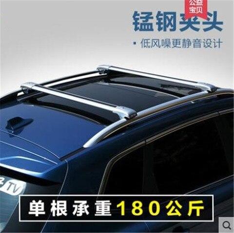 estilo do carro liga de aluminio barra transversal suv carro bagagem rack telhado rack para