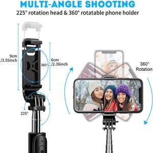 Image 5 - 4 In 1 Draadloze Bluetooth Selfie Stok Met Statief Lichtmetalen Self Selfiestick Smartphone Selfie Stick 3 Telefoon Voor Iphone camera