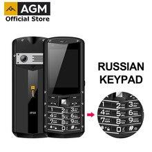 Teclado russo agm m5 simplificado android os 4g lte tipo c tela de toque ip68 impermeável robusto destaque telefone móvel 2.8 Polegada