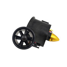 70mm Duct Fan Unit with 3000KV 6 Leaves Brushless Outrunner Motor for RC EDF Jet AirPlane(China)