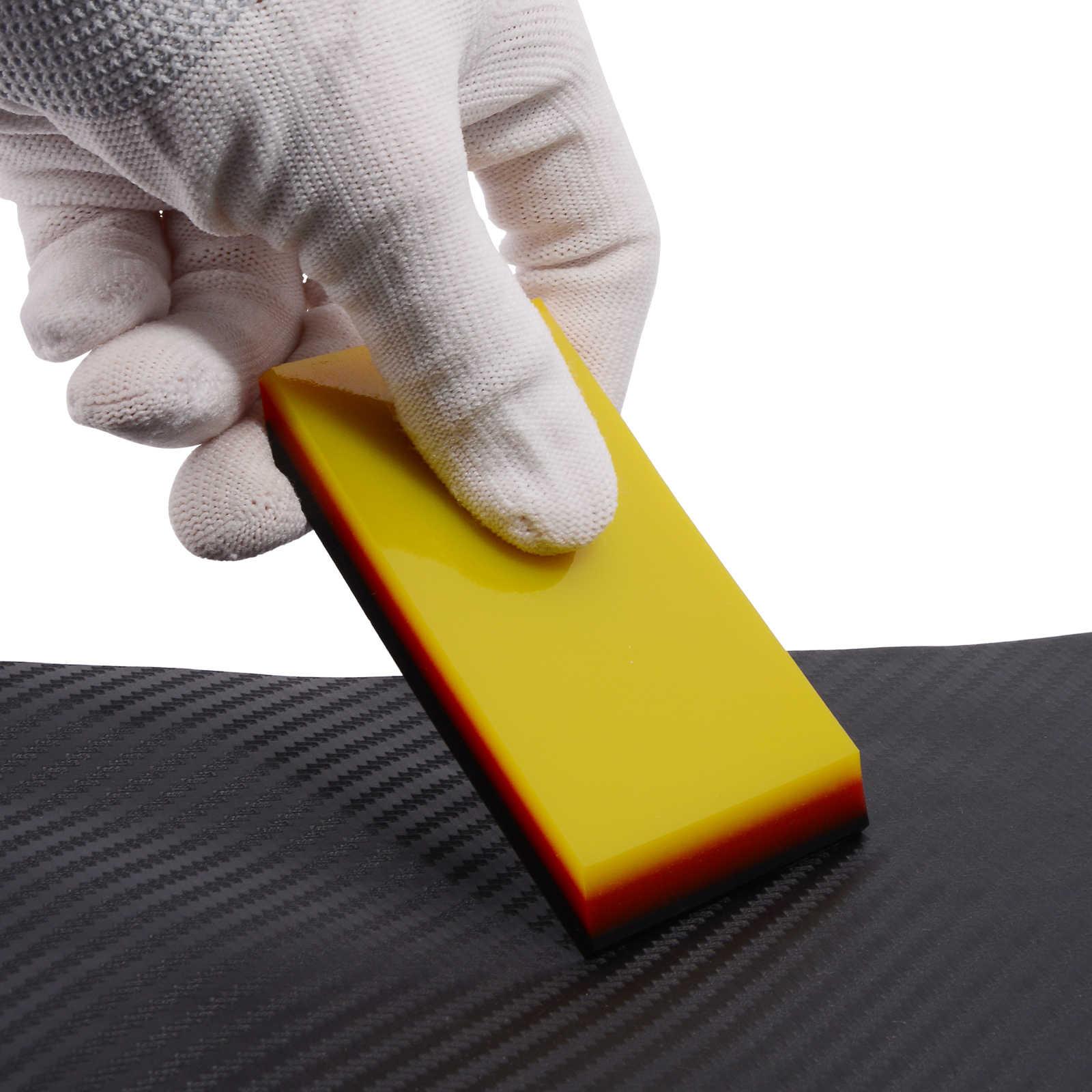 Ehdis 2in1 Auto Gereedschap 3-Layer Carbon Fiber Vinyl Zuigmond Beschermende Film Installeren Schraper Auto Wrap Raam Verven Reiniging gereedschap