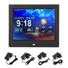 цена на 8 Inch Multi-function Smart WiFi Digital Photo Frame Clock Weather Forecast TFT 4:3 Screen