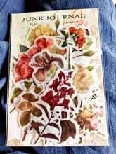 Винтажные прозрачные наклейки «цветы грибы растения»