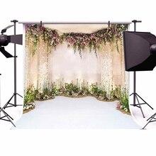8 * 8FT Blume Wand Szene Romantische Hochzeit Hintergrund Wand Geburtstag Party DIY Wohnkultur Liefert Fotografie Studio Requisiten