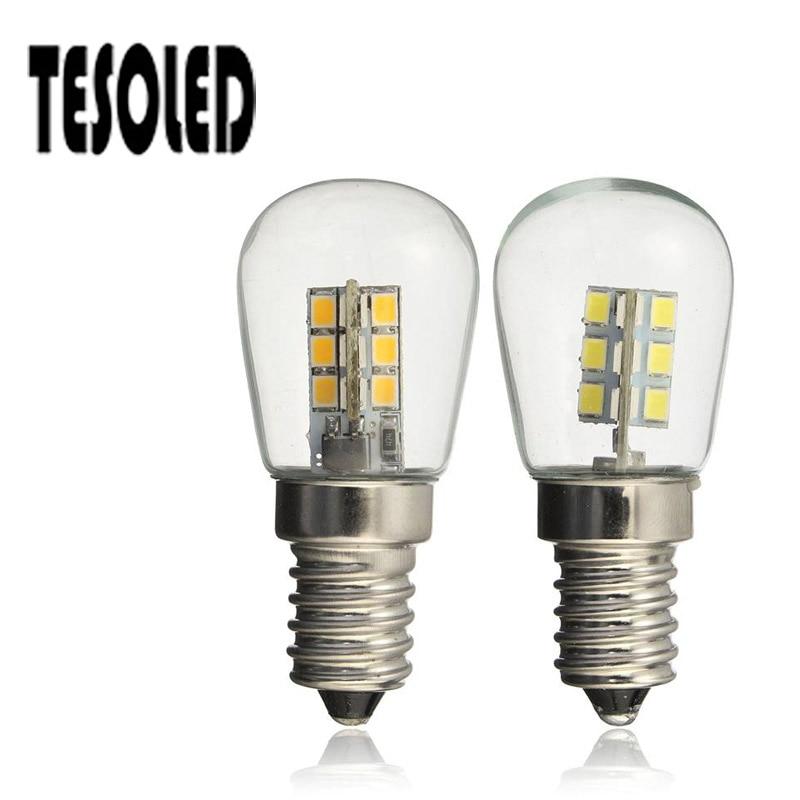 LED Bulb E14 2835/E12 3014 AC110v/220V High Bright Glass Shade Lamp 3W Pure Warm White/white For Machine Refrigerator 8.20