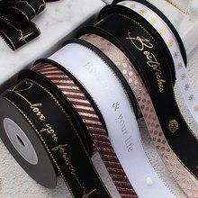 Белая лента для горячего тиснения из серебряной фольги с принтом в виде корсажной ленты, подарочная упаковка, свадебные аксессуары, ручная работа, галстук, цветочный галстук, материал