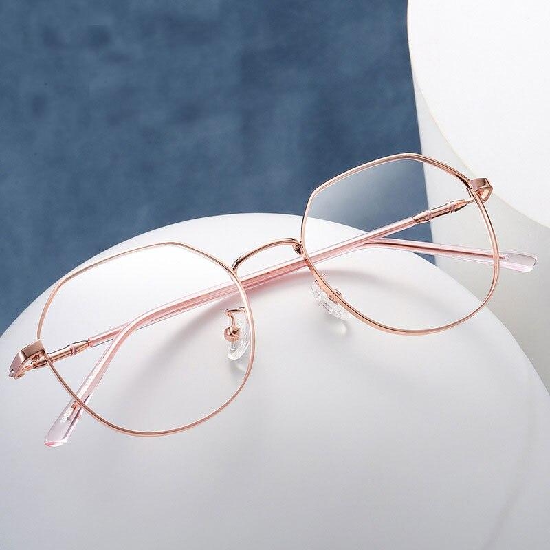 Round Glasses Frame Woman Men Glasses Retro Myopia Optical Frames Metal Clear le ns Black Silver Gold Eyeglasses Oculos 19053