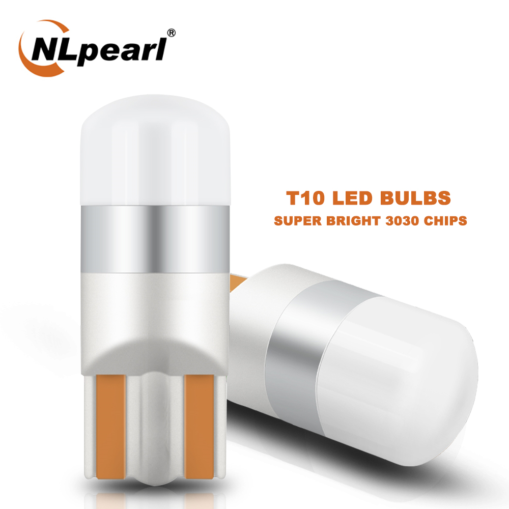 NLpearl 2/4X Signal Lampe T10 W5W Led-lampen 3030 1SMD W5W Led Canbus 194 168 Auto Innen Lichter dome Lese Clearance Lampen 12V