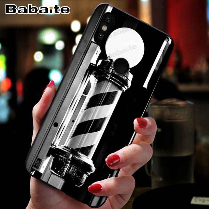 Ngộ Nghĩnh Chữ Cửa Hàng Bán Tông Đơ Cắt Tóc Tùy Chỉnh Hình Mềm Bao Bọc Điện Thoại Dành Cho Xiaomi Mi9se 8se 6 Mi8lite Note2 Note3 Max2 max3 Bao