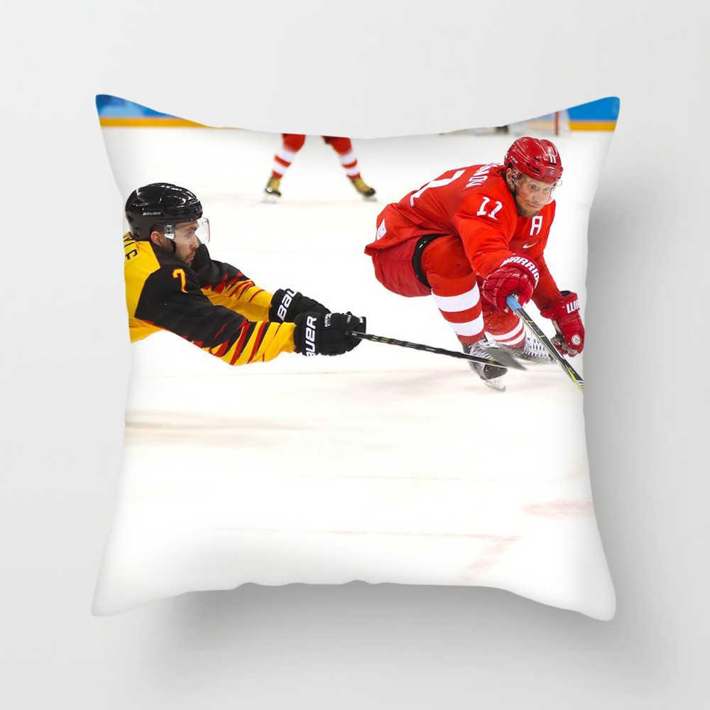 Fuwatacchi هوكي الجليد غطاء الوسادة NHL الرياضة وسادة غطاء للمنزل أريكة الزخرفية لينة مربع رمي الوسائد حالات 45*45