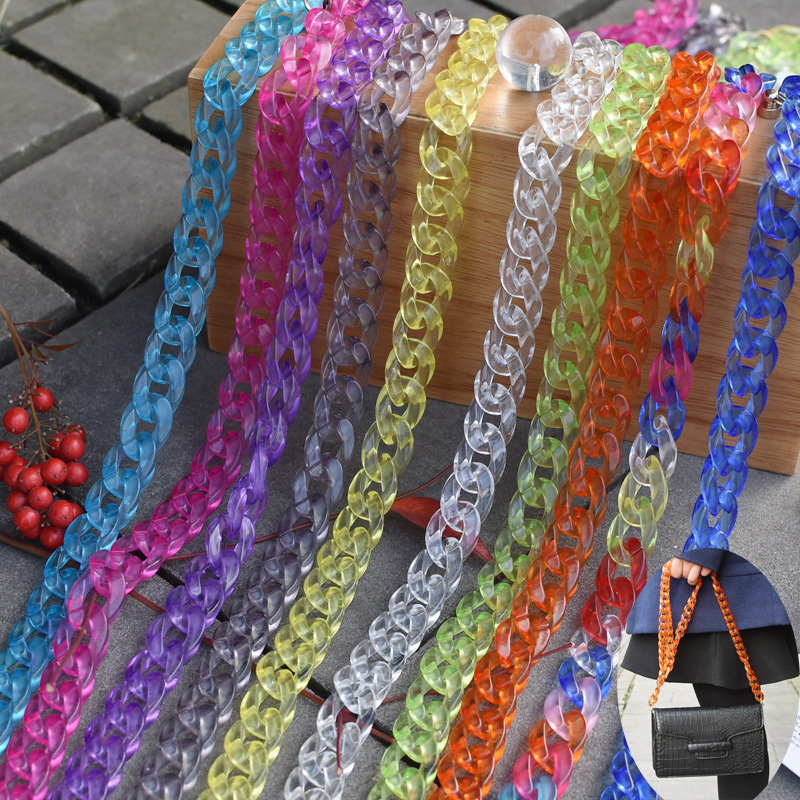 60cm Removable Replacement Shoulder Strap Bag Fish Bones Acryl  Transparent Resin Handbag Strap Strap Bag Accessories
