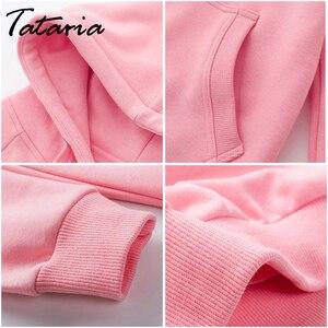 Image 3 - 2 sztuka dres kobiet różowy bluza z kapturem kobiet sportowy sweter garnitury damskie zestaw strojów sportowych dres dla kobiet bluza z kapturem