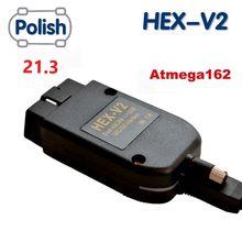 Mais novo 2020 vagcom v21.3 hex v2 interface 20.4.2 vag com 19.6 para vw para skoda seat vag 20.4 polonês atmega162 + 16v8 ft232rq