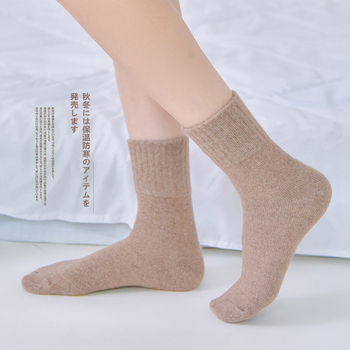10 Pairs / Bag Socks Female Autumn And Winter Thick Wool Socks In The Tube Female Socks Japanese cotton solid color ladies socks фото