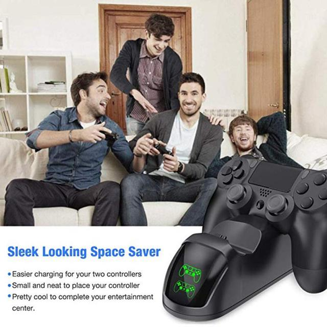 For PS4 Game Controller Joystick Handle USB Charger Dual USB Fast Charging Dock Station For Playstation 4 PS4 Slim Accessories 3