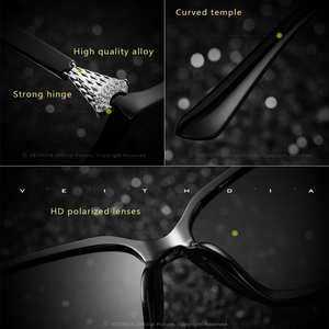 Image 4 - VEITHDIA רטרו נשים משקפיים שמש מקוטב יוקרה קריסטל גבירותיי מותג מעצב משקפי שמש Eyewear לנשים נשי V3027