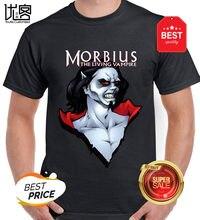 Camisa morbius o vampiro vivo blusa michael morbius calças femininas 100% algodão manga curta topos t