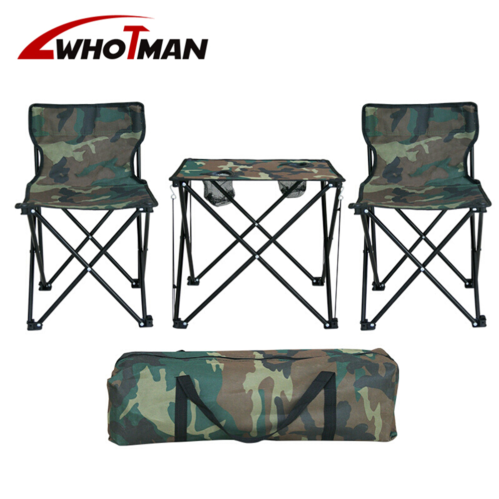 Camping Table Chairs Set Folding Portable Picnic Table Lightweight Camping Chair BBQ Hiking Traveling Outdoor Furniture  Sets