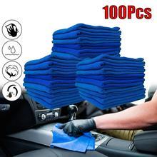 100 шт. синий микрофибры автомобилей ткань для очистки полотенце дворников автомобиля без царапин тряпкой для полировки детализация полотенца