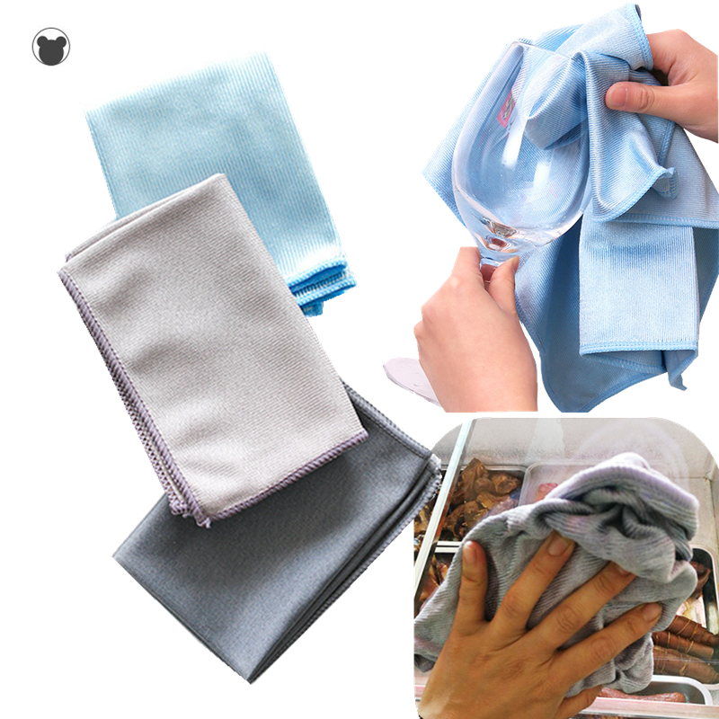40*30cm Microfiber glass cleaning towel, no trace, no lint,home rag, mirror cleaning cloth, window cleaner , wipe glass cloth